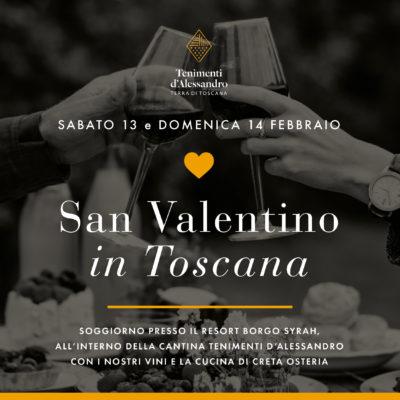 Copertina dell'iniziativa San Valentino in Toscana a Tenimenti d'Alessandro